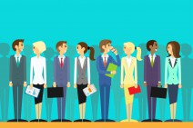 business people group human resources flat vector illustration